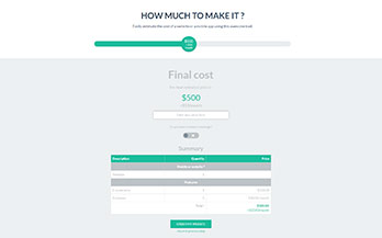 Easily create cost estimate, quote and payment forms